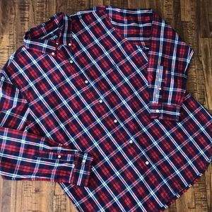Chaps men's XL red and navy plaid button down